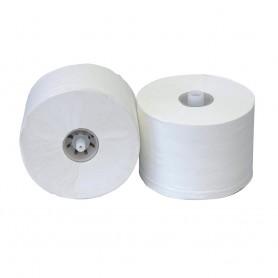 Тоалетна хартия на ролка с пластмасова шпула / накрайник