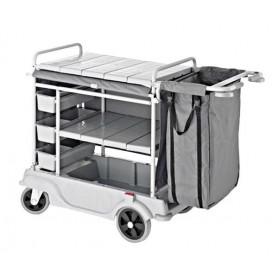 Камериерска количка с два коша