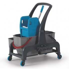 Хигиенна количка  с две кофи Pro и поставки за аксесоари