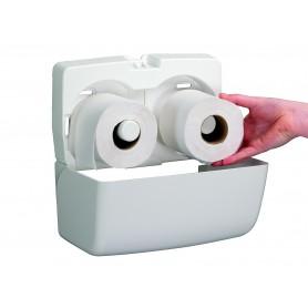 Двоен дозатор за тоалетна хартия с малка ролка