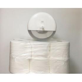 Промо пакет дозатор и стек тоалетна хартия с централно подаване