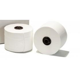 Тоалетна хартия на ролка с пластмасов накрайник