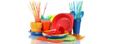 Пластмасови изделия за еднократна употреба - вилици, лъжици, чаши, чинии, прибори