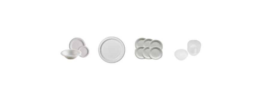 Еднократни пластмасови чинийки и купички