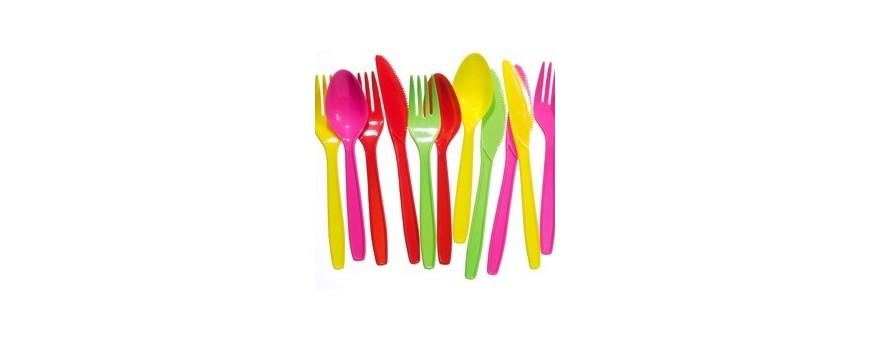Пластмасови прибори, вилици и лъжици  за еднократна употреба