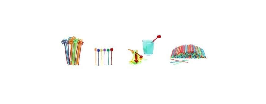 Пластмасови бъркалки, шпаги, сламки и коктейлни украси