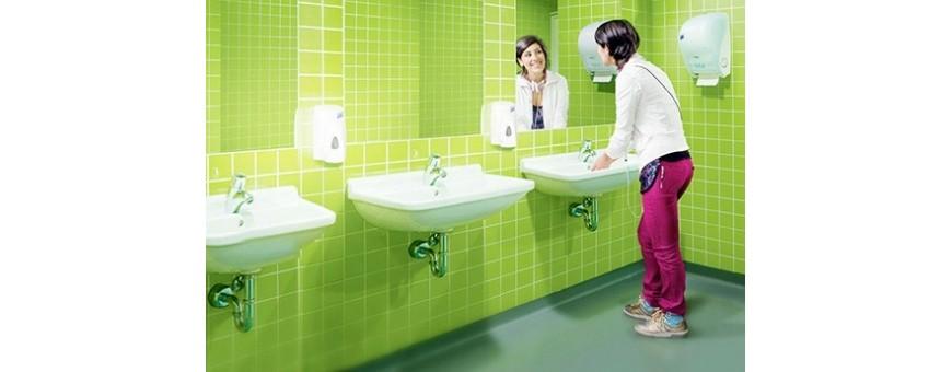 Дозатори за WC помещения за тоалетна хартия, кърпи за ръце, течен сапун