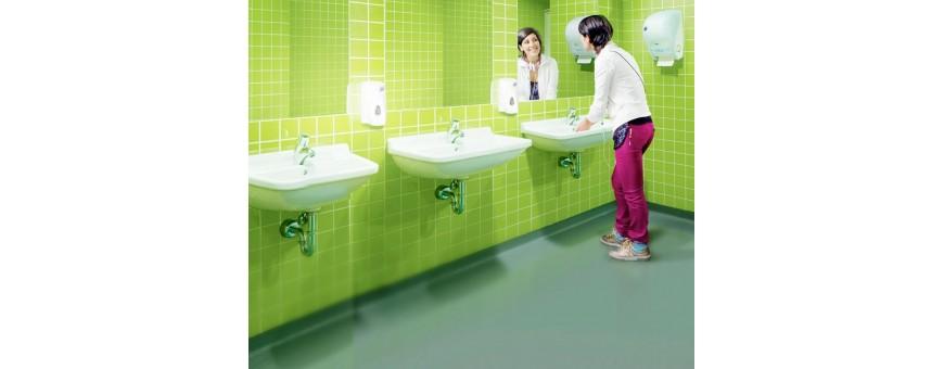 Дозатори за тоалетна хартия, кърпи за ръце, течен сапун